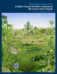 Cover of the PDF file titled Best Management Practices For Golden-Winged Warbler Habitats In the Great Lakes Region