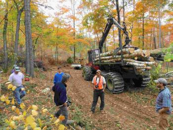 Loggers and foresters meet at Eustis Family Forest