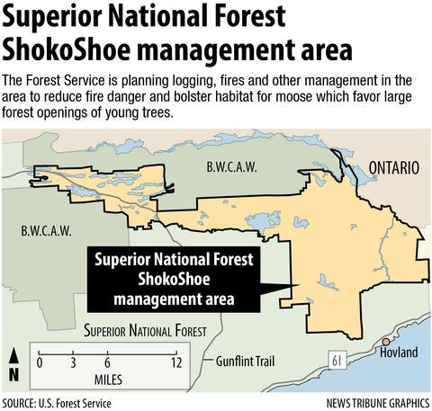 Superior National Forest map